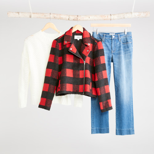 winter jackets: buffalo plaid jacket