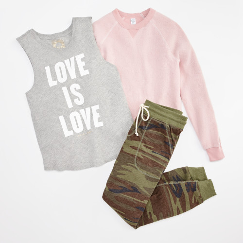 take it easy: camo joggers