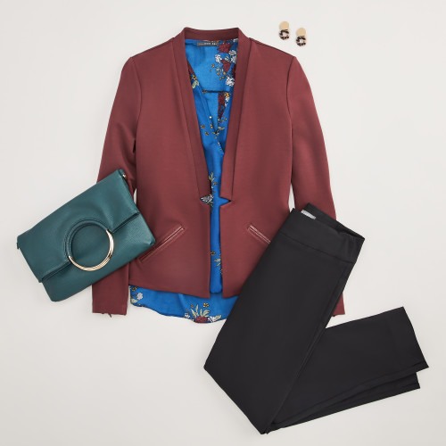 work outfits: red blazer