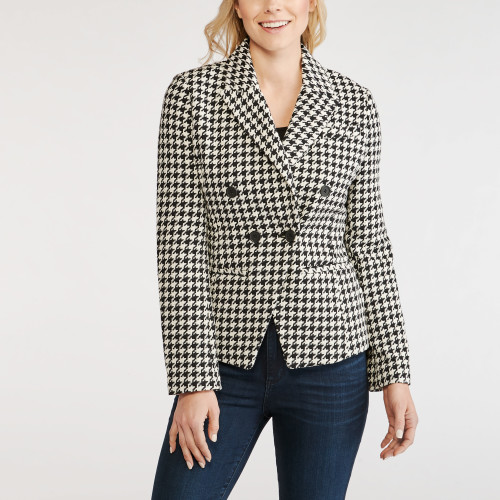 winter wardrobe: houndstooth blazer