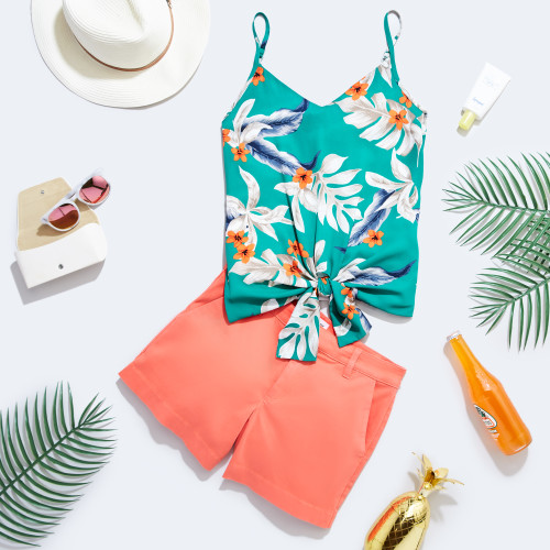 spring break outfits: tropical getaway