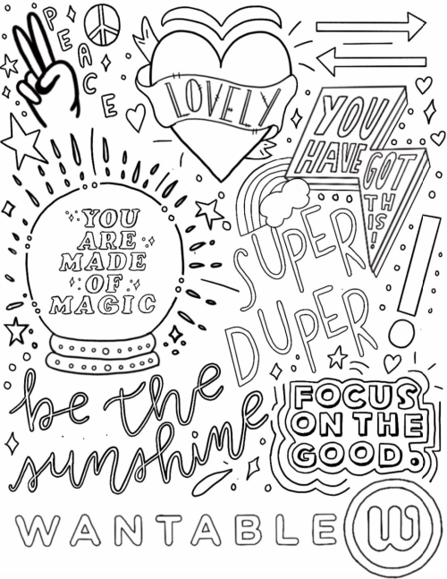 wantable coloring pages: feel-good