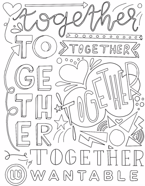 wantable coloring pages: together