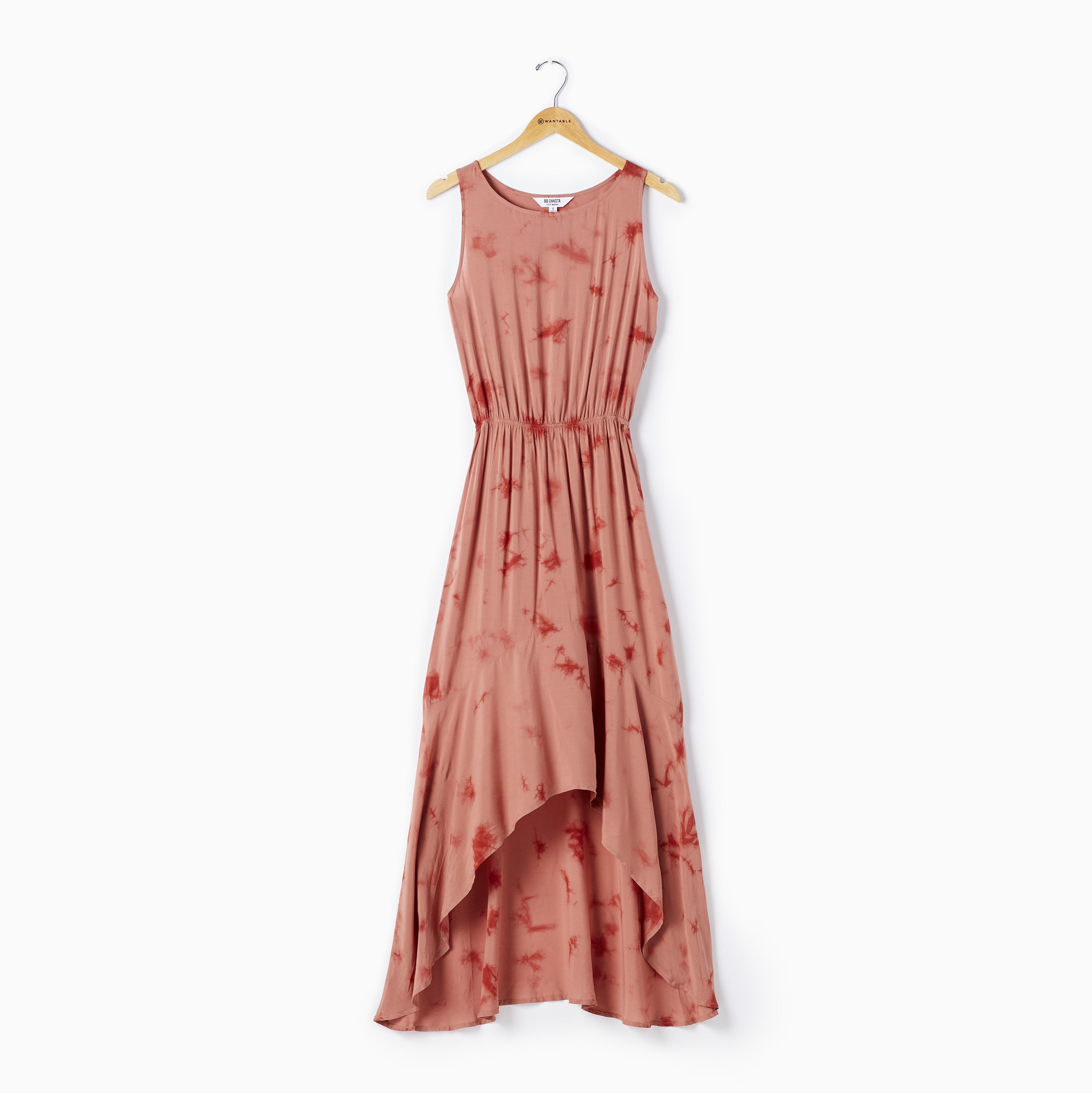 High-low tie dye maxi dress on a hanger - Casual Summer Dress by BB Dakota