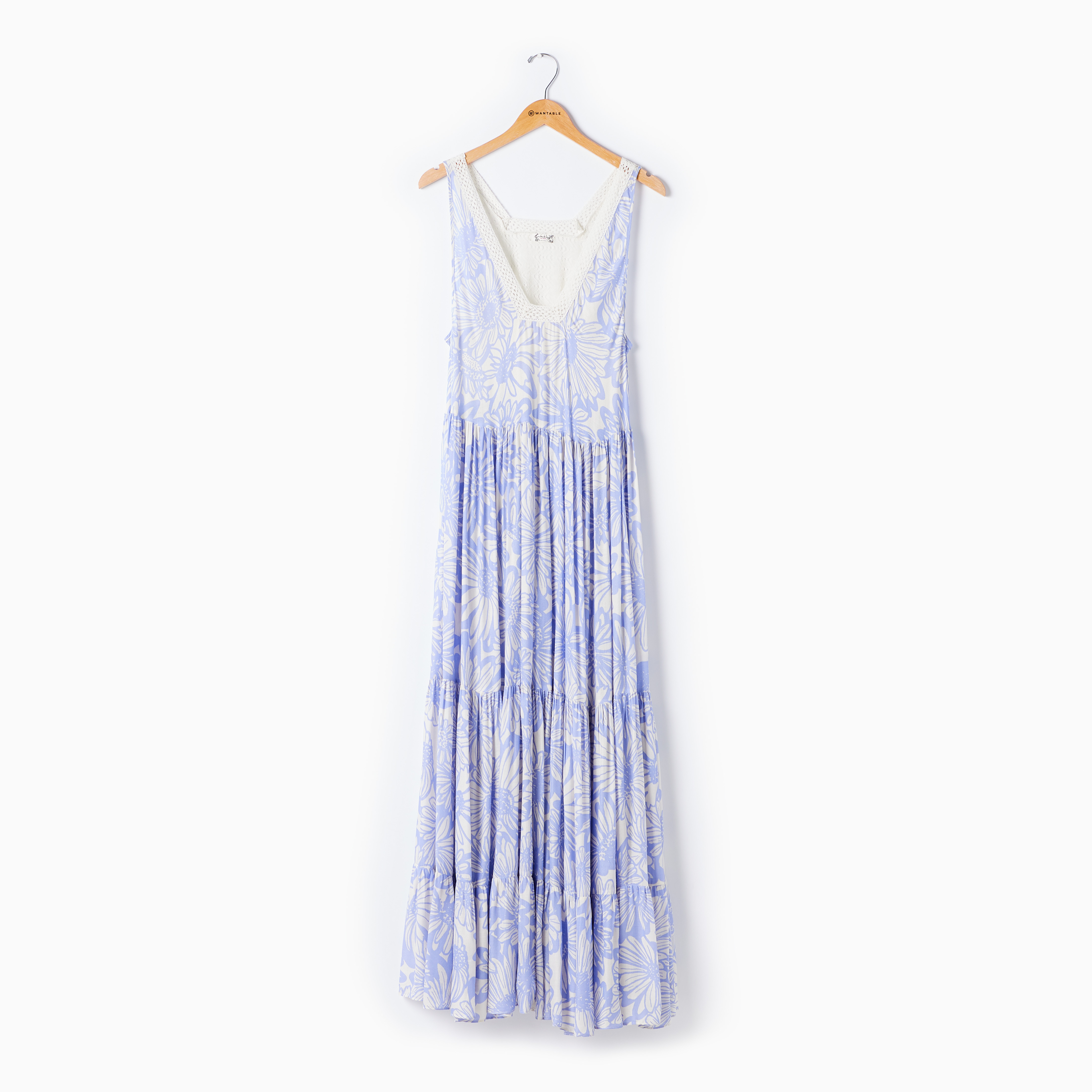 Blue floral print maxi dress on a hanger - Casual summer dress by Free People